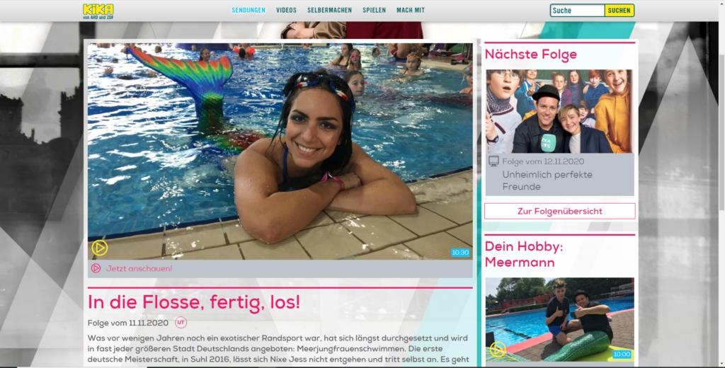 Videobeitrag der Schwimmschule Stephariella bei KIKA